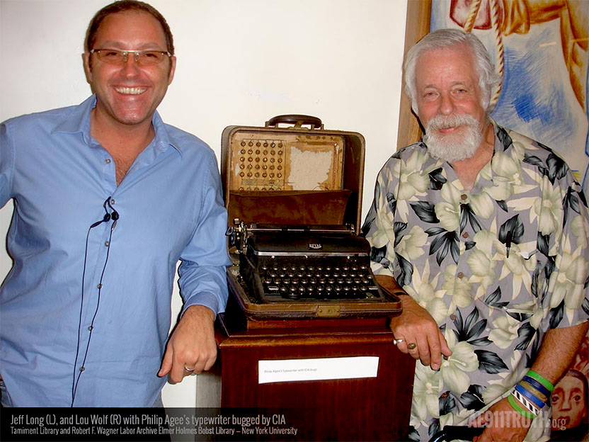 Jeff Long and Lou wolfe with Phil Agees bugged typewriter