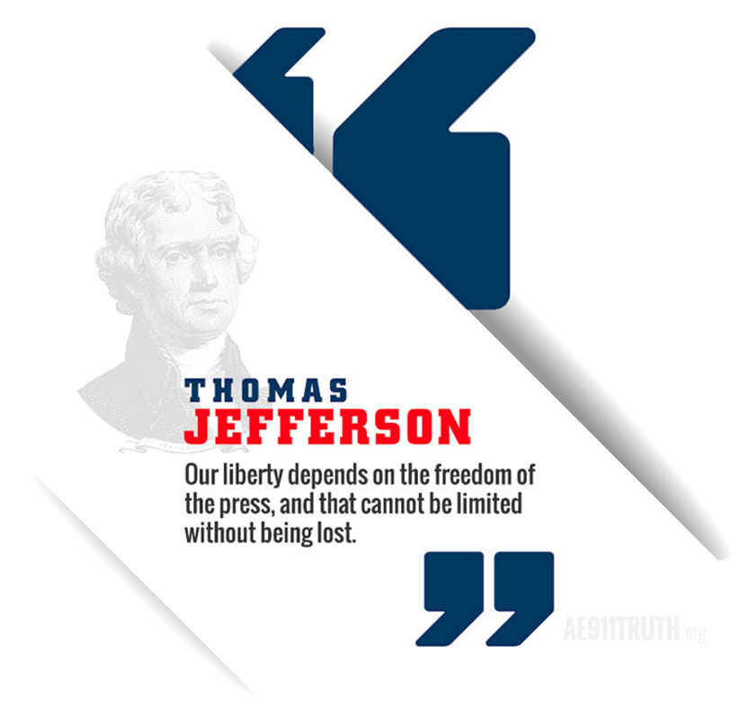Thomas Jefferson's quote concerning press freedom and democracy